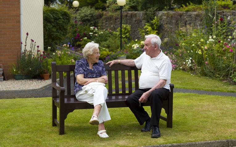 conversation in garden